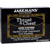Jakemans Throat and Chest Lozenges - Anise - Case of 24 - 24 Pack HGR 0418533