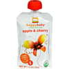 Happy Baby Organic Baby Food Stage 2 Apple and Cherry - 3.5 oz - Case of 16 HGR 0657619