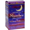 Vitamins OTC Meds Sleep Aids: Natural Balance - Herbal Slumber Melatonin and Valerian Formula - 60 Capsules