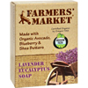 soaps and hand sanitizers: Farmer's Market - Natural Bar Soap Lavender Eucalyptus - 5.5 oz