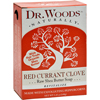 soaps and hand sanitizers: Dr. Woods - Bar Soap Red Currant Clove - 5.25 oz