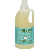 cleaning chemicals, brushes, hand wipers, sponges, squeegees: Mrs. Meyer's - 2X Laundry Detergent - Basil - 64 oz