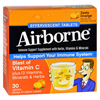 Airborne Effervescent Tablets Vitamn C - Zesty Orange - 10 Tablets - 3 Pack HGR 1562131