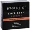 soaps and hand sanitizers: Evolution Salt - Bath Soap - Sole - Coconut - 4.5 oz