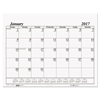 House Of Doolittle House of Doolittle™ 100% Recycled One-Color Dated Monthly Desk Pad Calendar Refill HOD 126