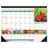 House Of Doolittle House of Doolittle™ Earthscapes™ 100% Recycled Floral Monthly Desk Pad Calendar HOD 159