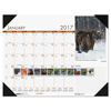 House of Doolittle House of Doolittle™ Earthscapes™ 100% Recycled Beautiful Wildlife Monthly Desk Pad Calendar HOD 172