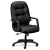 HON 2090 Pillow-Soft Series Executive Leather High-Back Swivel/Tilt Chair HON 2091SR11T