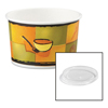 Huhtamaki Chinet® Streetside Paper Food Container w/Plastic Lid HUH 70408