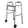 Cardinal Health Two-Button Folding Walker with 5 wheels IND ZCH1060