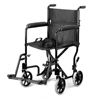 "Wheelchairs: Compass Health Brands - ProBasics® 19"" Lightweight Black Aluminum Transport Wheelchair"