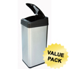 iTouchless 13 Gallon Square Extra-Wide Opening Touchless Trash Can® MX ITO IT13MXCS