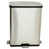 waste receptacles: iTouchless - 13 Gallon Fingerprint-Proof Stainless Steel Step-Sensor Trash Can