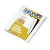 Labels, Stamps, Index Dividers: Kleer-Fax® 80000 Series Numerical Side Tab Legal Index Divider