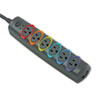 surge protectors: Kensington® SmartSockets® Color-Coded Six-Outlet Strip Surge Protector