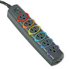 Kensington Kensington® SmartSockets® Color-Coded Six-Outlet Strip Surge Protector KMW 62147
