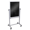 Luxor Double-Sided Mobile Black Board 30 x 40 LUX BM3040M