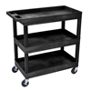 Luxor 3-Shelf High Capacity Tub Cart LUX EC111-B