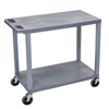 Luxor 18x32 Cart with 2 Flat Shelves LUX EC22-G
