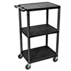 Luxor 42 Plastic Shelf Cart & Stand LUX LP42-B