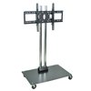 "Luxor TV Mount Stands: Luxor - 62"" Plasma TV Stand with Chrome Uprights"