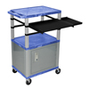 Luxor 42 Presentation Cart With Cabinet, Pullout Shelves, and Electric LUX WTPSLP42BUC4E-N