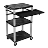 Luxor 42 Tuffy Presentation Station With Pullout Shelves and Electric LUX WTPSLP42E-N