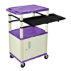 Luxor 42 Presentation Cart With Cabinet, Pullout Shelves, and Electric LUX WTPSLP42PC3E