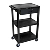 Janitorial Carts, Trucks, and Utility Carts: Luxor - Multipurpose Utility Cart with Drawer
