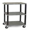 "utility carts, trucks and ladders: Luxor - 3-Shelf Tuffy Cart - 42"" Tall"
