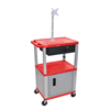 Janitorial Carts, Trucks, and Utility Carts: Luxor - Multipurpose Utility Cart with Cabinet, Monitor Mount & Drawer