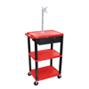 Janitorial Carts, Trucks, and Utility Carts: Luxor - Multipurpose Utility Cart with Monitor Mount & Drawer