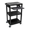 Luxor carts: Luxor - Presentation Cart with Open Shelves & Pull Out Tray
