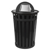 Witt Industries Oakley Collection Dome Top Receptacle WIT M3601-DT-BK