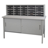 mailroom stations: Marvel Group - 25 Adjustable Slot Literature Organizer w/Cabinet
