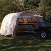 canopy & carports: Rhino Shelter - Instant Garage Round Style 12x20x8 - Tan