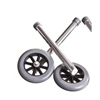 Guardian Footpiece Set, Extension, 5 Wheels, .875diameter MED G07724