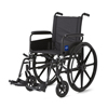 Medline Wheelchair, 18, Full-Length Arms, Swing-Away Foot MED MDS806500FLA