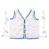 Medline Restraint, Vest, Tie-Back, Koolnit Polyester, Large MED MDT828004
