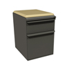 Filing cabinets: Marvel Group - Zapf Mobile Pedestal w/Seat, Box/File, Dark Neutral, Forsythia Fabric