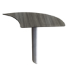 Mayline Mayline® Medina™ Series Laminate Curved Desk Extension MLN MNEXTRLGS