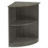 Mayline Mayline® Medina™ Series Quarter Round Two-Shelf Laminate Bookcase MLN MVBQ2LGS