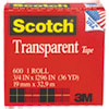 3M Scotch® Transparent Glossy Tape MMM 600341296
