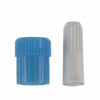 B. Braun BW1000 Replacement Catheter Caps, Blue Male Luer Lock and White Female Luer Lock Cap, 100EA/CS MON 11282800