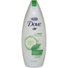 soaps and hand sanitizers: Diversey - Dove Liquid Body Wash 12 oz., Cucumber / Green Tea Scent (1106020)