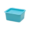 Medical Action Industries Denture Cup Medegen Blue Double-Hinged Lid Reusable, 24EA/CS MON 14002904