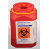 Post Medical Multi-purpose Sharps Container 1-Piece 1.5 Quart Red Base Vertical Entry Lid MON 15002800