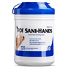Sani-wipe-products: Professional Disposables - Antimicrobial Alcohol Gel Hand Wipes Sani-Hands® - ALC 6 X 7.5 Inch Unscented Canister, 220EA/CN