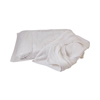 Dietary: Beck's Classic - Bib Hook and Loop Reusable Terry Cloth- White 18x34