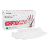 McKesson Exam Glove Medi-Pak® NonSterile Powdered Vinyl Smooth Ivory Medium Ambidextrous, 100EA/BX MON 22131300